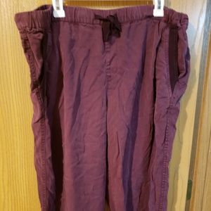 EUC Faded Glory wine-colored lyocell pants